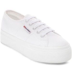 SUPERGA Women's Acot Linea Platform Sneaker White
